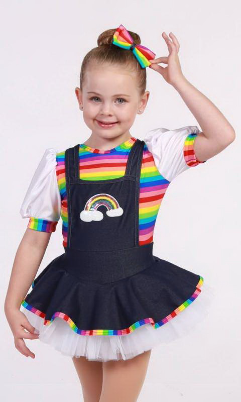RAINBOW DENIM Dance Costume