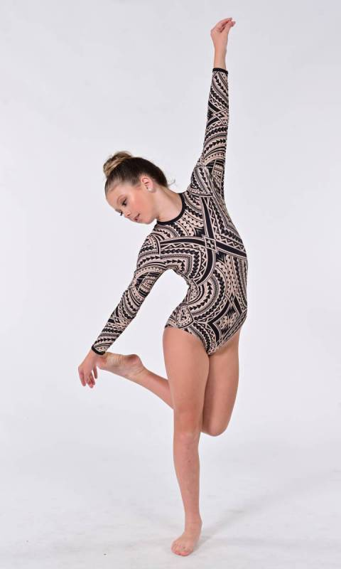 TRIBAL LEOTARD - SUBLIMATED  Dance Costume