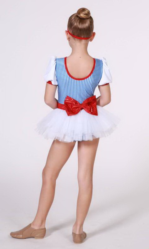 RUBY SLIPPERS - Dorothy  - Blue/White Gingham + White + Red