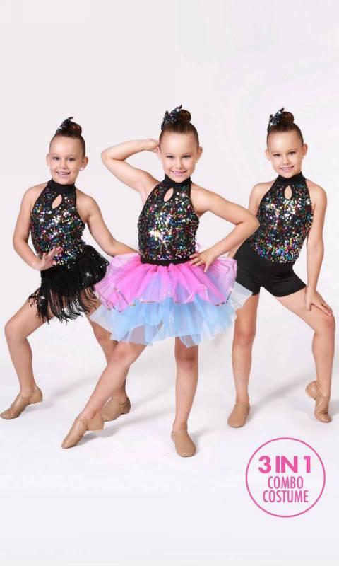 RHYTHM DANCER - 3 in 1 Combo + Hair Access Dance Costume