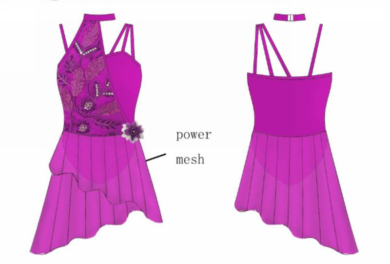 ORCHID  Dance Costume