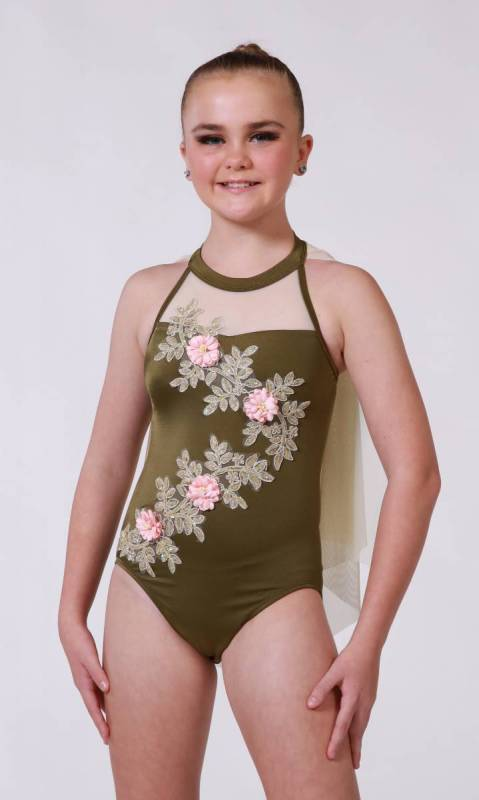 IMOGEN - Applique Leotard Aust Made Dance Costume