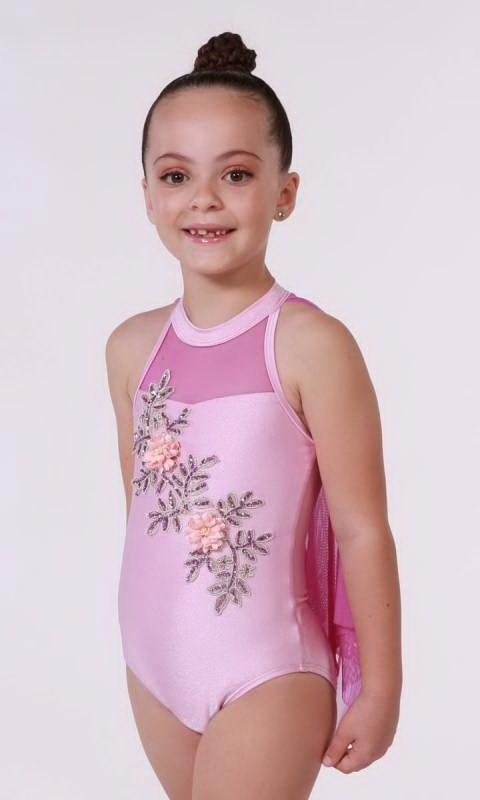 IMOGEN - Applique Leotard Aust Made Dance Costume