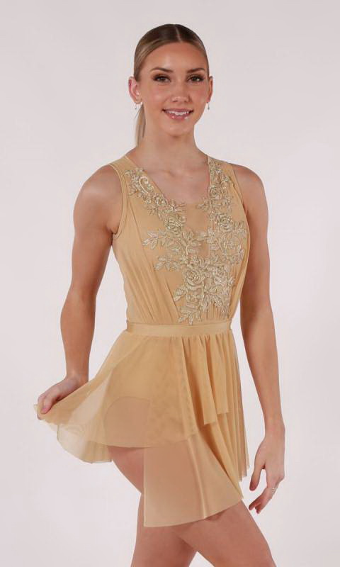 ELEGANCE - Leotard  - Natural and Gold
