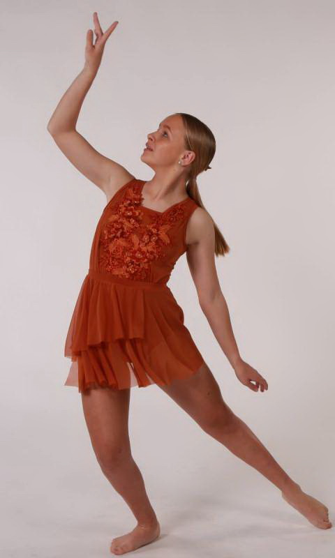 ELEGANCE - Leotard  - Copper