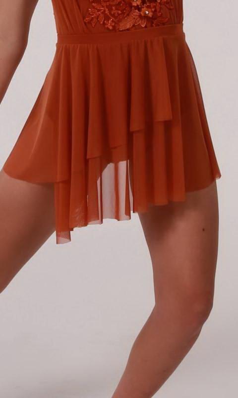 ELEGANCE - SHORT MESH SKIRT  Dance Costume