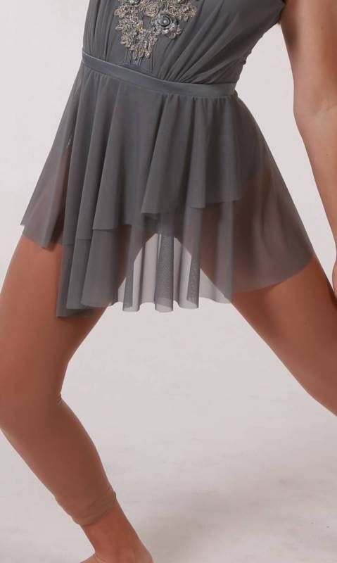 ELEGANCE - SHORT MESH SKIRT  Dance Costume