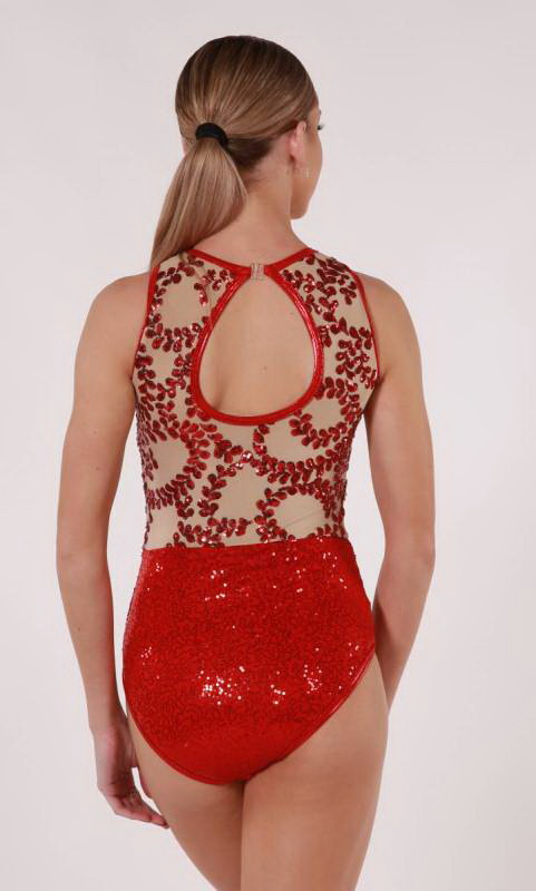 VOGUE - LEOTARD - Red and natural