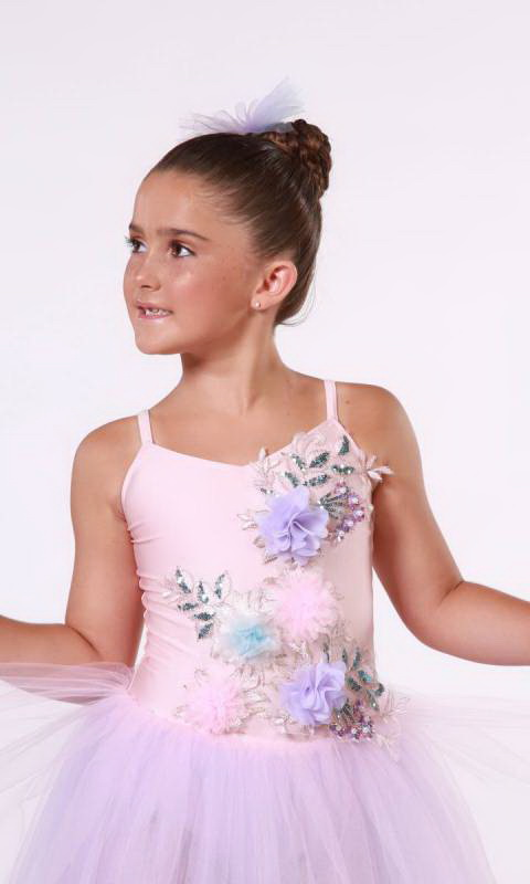 Garden Party Romantic tutu  - Pink,  lilac and blue