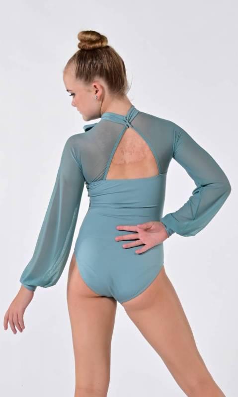 OLIVIA - Leotard  - Green Blue Slate
