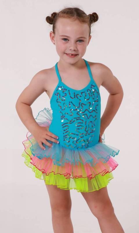 Neon sequin tutu  Dance Costume