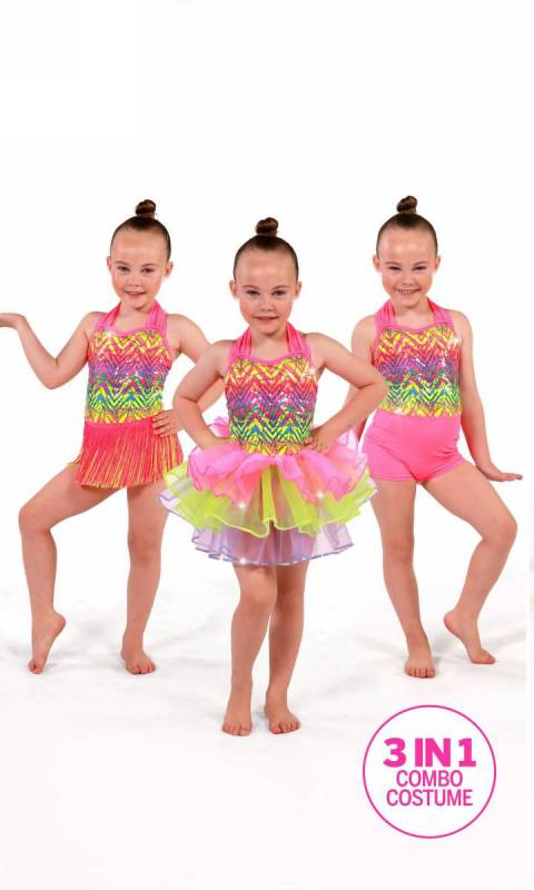 PARTYTIME - 3 IN 1 + HEADBAND Dance Costume