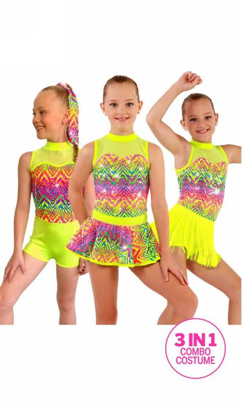 GET THE PARTY STARTED - 3 in 1 + Headband Dance Costume