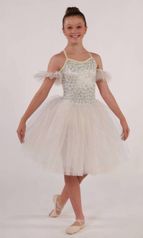 Ballerina Romantic + hair scrunchie Dance Costume