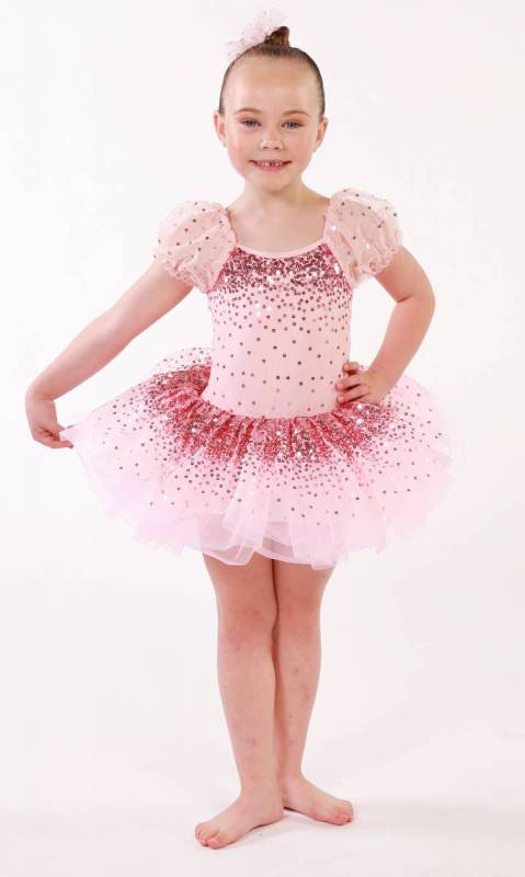 PRETTY IN PINK  + hair accessory Dance Costume