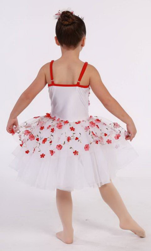 LITTLE FLOWERS  - White and Red