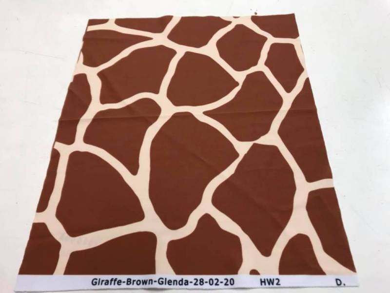 GIRAFFE PRINT SPANDEX  - Brown